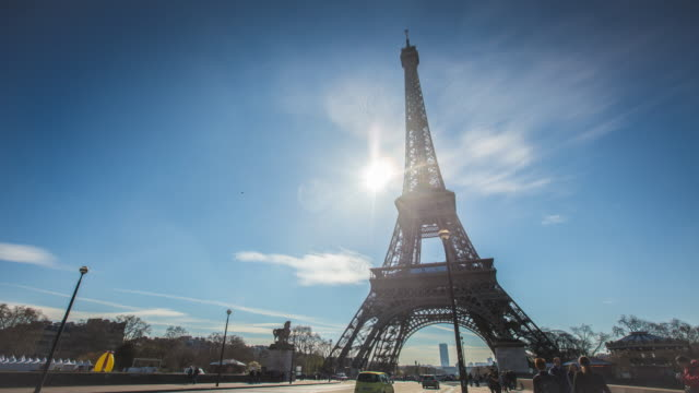 4K:Eiffel tower in Paris, France video