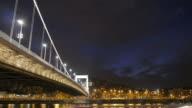 4K:Elisabeth Bridge , Budapest Hungary time-lapse movement video
