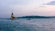 4K:Maiden's Tower. istanbul, Turkey video