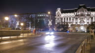 4K:Night life in the central city , Budapest Hungary time-lapse movement video