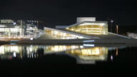 4K:Oslo norway opera house with time-lapse movement video