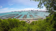 4k-pattaya pier in sunny. Chouburi, Thailand video