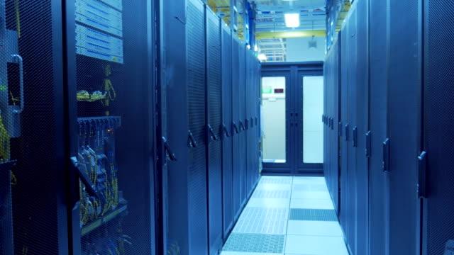 4K:Server Room on Datacenter video