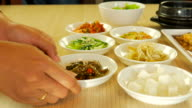 4K:Serving Asian Cuisine and side dish video