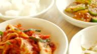4K:Side Dish of Korean Food video