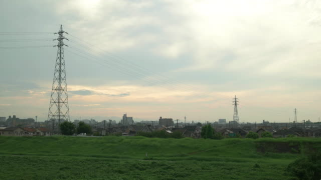 4K,the bank of a river in the morning.Kakogawa,Hyogo,Japan video