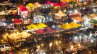 4K:Time Lapse of walking at Night market video