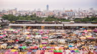 4K:Time Lapse Walking People Night market at Bangkok video