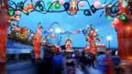 4K:Time lapse:Lantern festival,Lunar new year cerebration. video