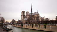4K:Timelapse Notre Dame Cathedral in Paris, France video