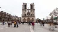 4K:Timelapse Notre Dame Cathedral in Paris, France video