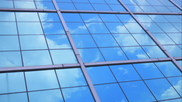 4K:Timelapse of Business corporate building glass and steel background video