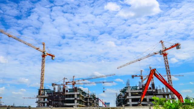4K:Time-lapse of construction site building video