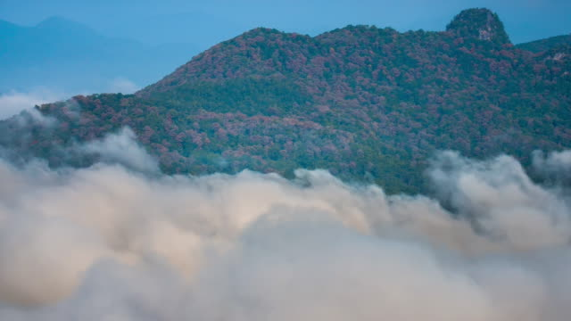 4K:Time-lapse of mountain sky and cloud in sunlight time video