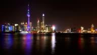 4K-timelapse of shanghai Nanpu Bridge at Night video