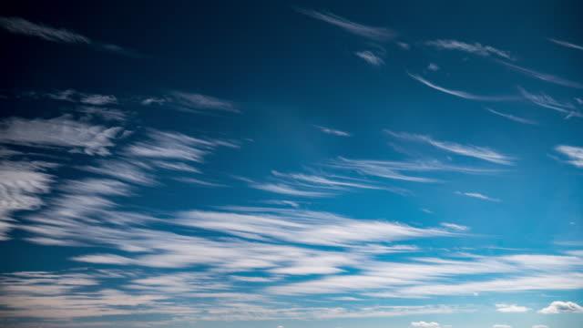 4K:Timelapse of streak cloudy video