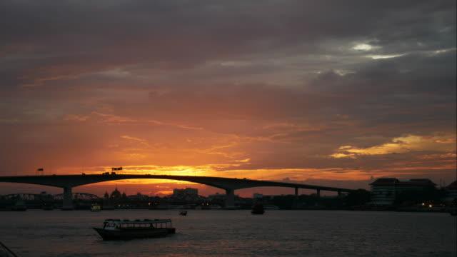 4K:Timelapse of sunset on river video