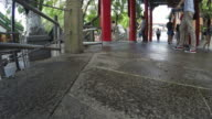 4K-timelapse : Wong tai sin temple , famous temple in Hong Kong video