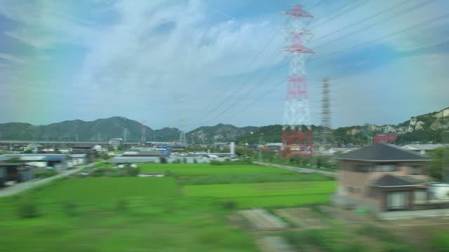 4K,View From bullet train window.Japan. video