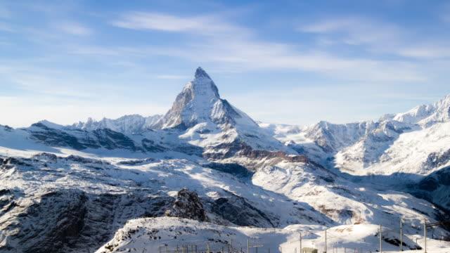 4K:View Of Matterhorn In Swiss Alps timelapse video