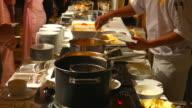 4K:Waiter serving Macaroni video