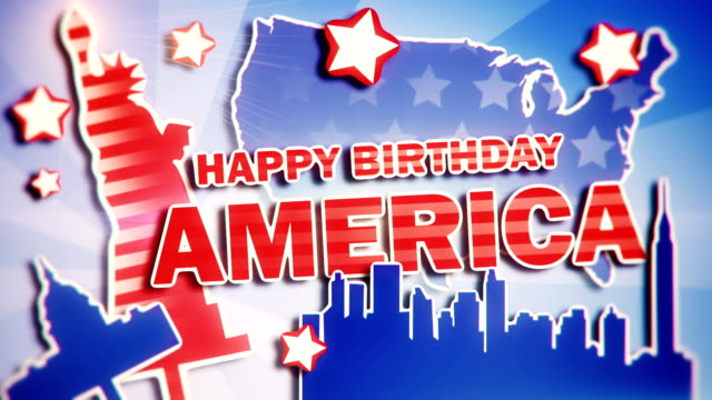 4th of July - Happy Birthday America video