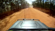 POV 4wd driving in the australian outback. HD video