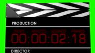 5x 3D Clapperboard video