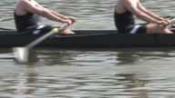 8-Man Rowing Team Race Close up video