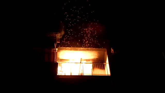 a fire in the apartment video