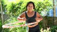 Fat girl with hula hoop video