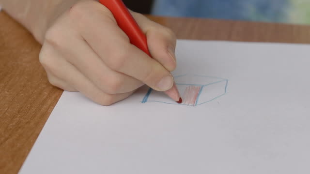 a little hands draw the blue square video