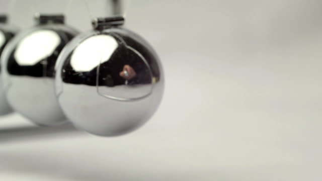 a pendulum swings and demonstrates the laws of physics video