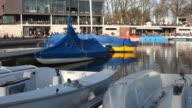 Aaseeterrassen with boats - Münster (Aasee) video