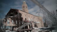 Abandoned church, depressed neighborhood video
