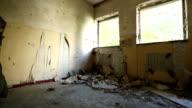 Abandoned damaged building video