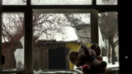 Abandoned home 26. Rain in the room video