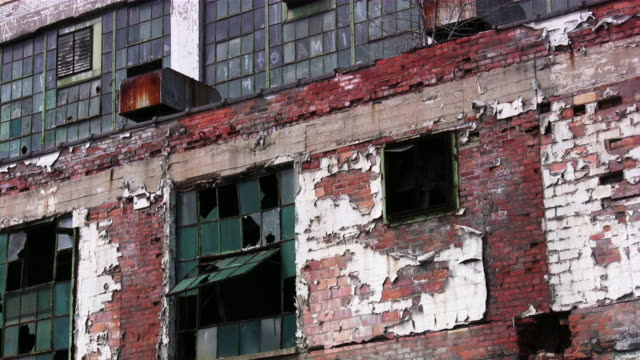 Abandoned industrial building factory in Detroit, Michigan video