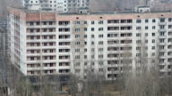 Abandoned multi-storey residential building in Pripyat video
