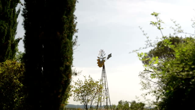 abandoned old windmill in France video