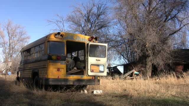 abandoned school bus video