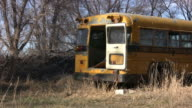 abandoned school bus video