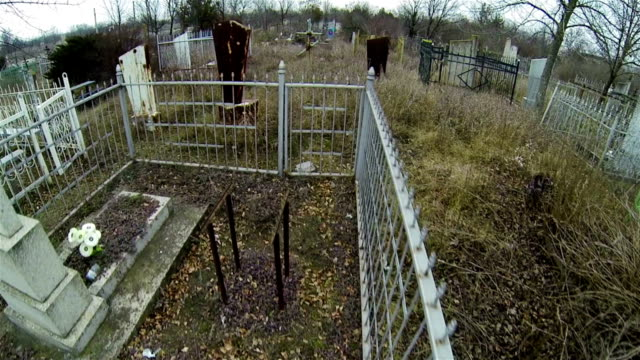 Abandoned tombs at the grave yard video