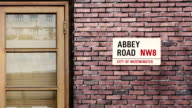 Abbey Road street sign. The world's most famous street of Abbey Road in London. video