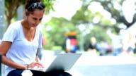 Aboriginal Australian female student at campus video