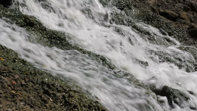 Above flowing waterfall video