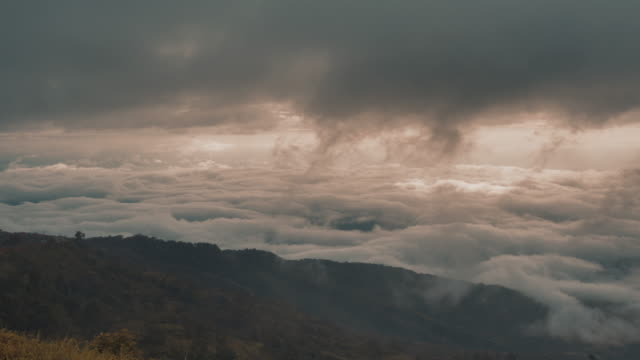 Above the cloudy video