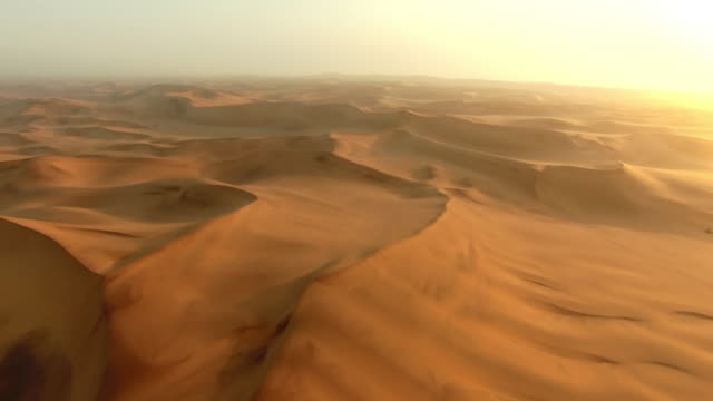Above the shifting sands of the Namibian Desert video