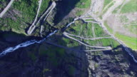 Above Trollstigen pass in Norway video