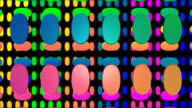 Abstract 3D Colored Ovals in Motion Background HD video